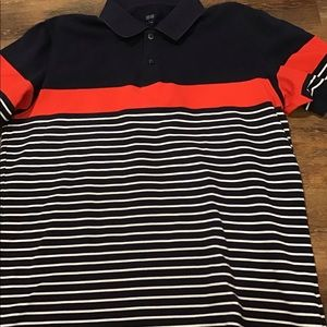 Large UNIQLO cotton polo Navy/Red/White
